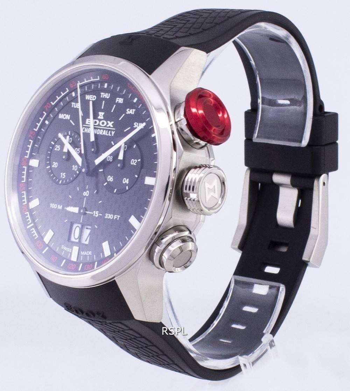 0970e754fccd Edox Chronorally 38001TINNIN 38001 TIN NIN cronógrafo de cuarzo de reloj Men
