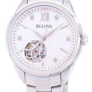 Reloj Bulova autom√°tico 96 P 181 diamante Acentos Femenil