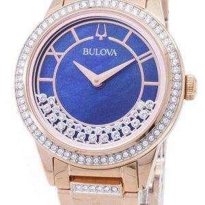 Bulova cristal TurnStyle 98 L 247 cuarzo diamante Acentos Watch de Women