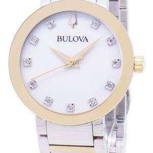 Reloj Bulova moderno 98 P 180 diamante Acentos cuarzo mujer
