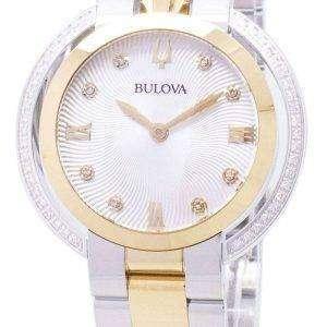 Reloj Bulova Rubaiyat 98R246 diamante acentos de cuarzo de las mujeres