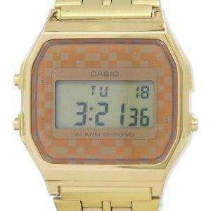 Reloj Vintage Casio cronógrafo alarma Digital A159WGEA-9A hombres