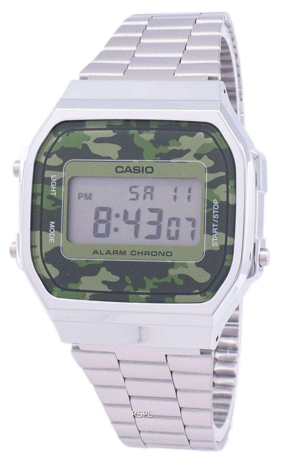 ab1b317f56f5 Reloj Unisex de Casio Retro camuflaje Digital alarma Chrono A168WEC ...