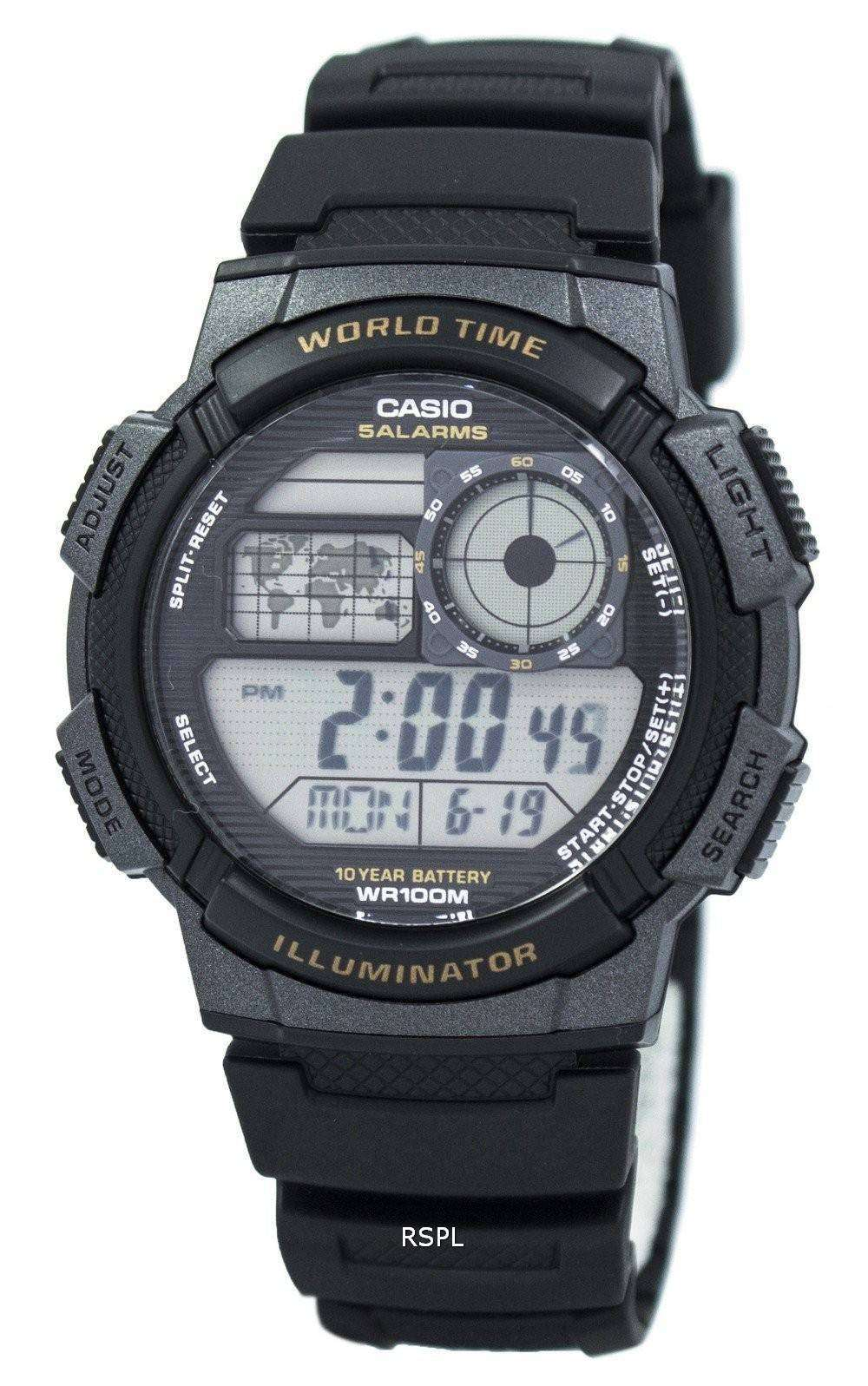 fd38c335ad37 Reloj de Casio juvenil mundo Digital tiempo AE-1000W-1AV hombre ...