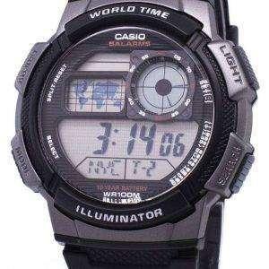 Reloj Casio juvenil serie mundo Digital tiempo AE-1000W-1BVDF AE-1000W-1BV varonil
