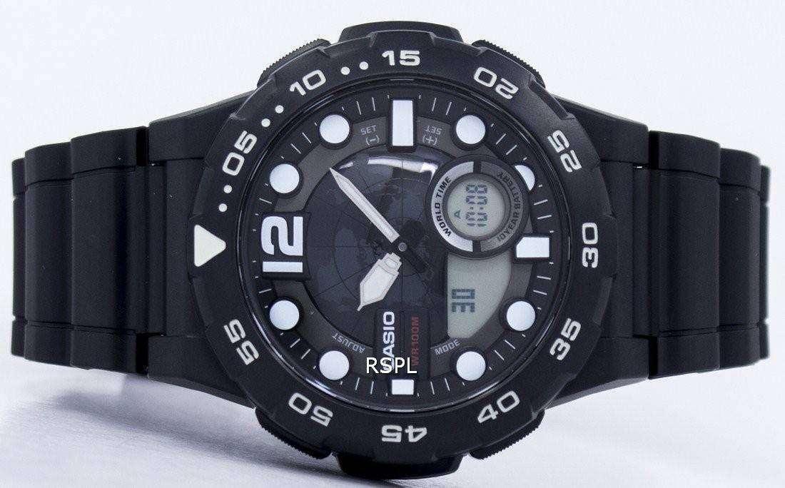 9b36a52bf1cb Casio mundo tiempo alarma analógica Digital AEQ-100W-1AV reloj de ...