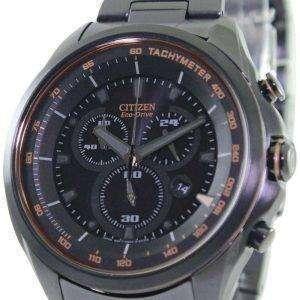 WDR ciudadano Eco-Drive Cronógrafo taquímetro AT2187-51E reloj de hombres