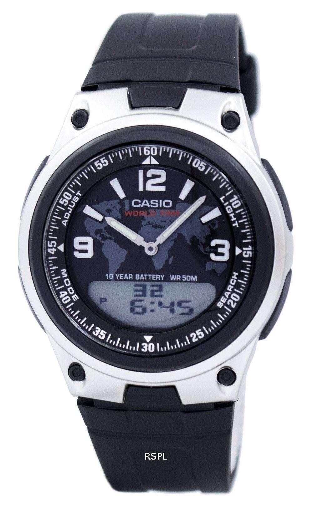 bc9dfd564598 Reloj Casio Databank mundo tiempo Telememo Analógico Digital AW-80-1A2V