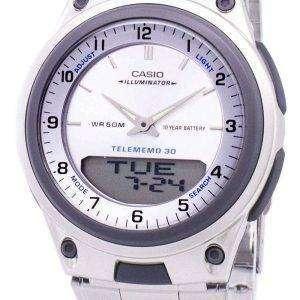 Reloj Casio Analógico Digital Telememo iluminador AW-80D-7AVDF AW-80D-7AV hombre