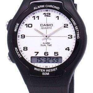 Reloj Casio Analógico Digital Dual Time AW-90H-7BVDF AW-90H-7BV hombre