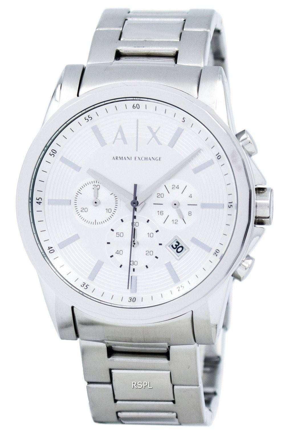 863cdec9d2be Armani Exchange Cronógrafo Dial de plata-tono AX2058 reloj de hombres