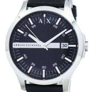 Armani Exchange negro cuero correa AX2101 reloj de hombres