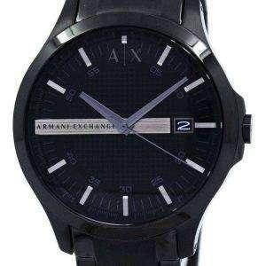 Armani Exchange negro acero inoxidable AX2104 reloj de hombres