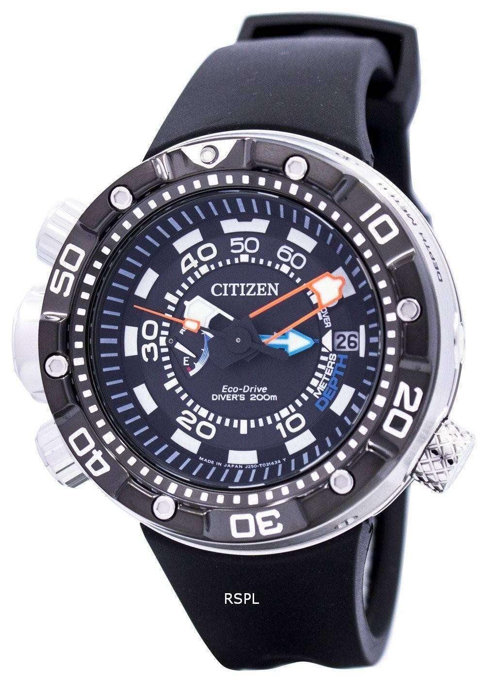 da7e27317155 Reloj BN2024-05E varonil del Citizen Promaster Aqualand Eco-Drive Diver
