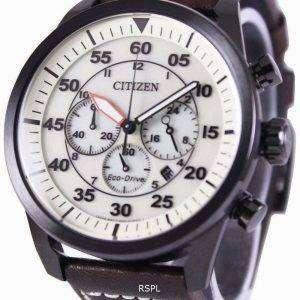 Ciudadano Eco-Conduzca aviador cronógrafo CA4215-04W reloj de hombres