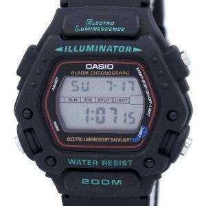 Reloj Casio Digital Classic alarma cronógrafo WR200M DW-290-1V DW-290-1 de los hombres