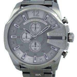 Diesel Mega jefe Cuarzo Cronógrafo Dial gris negro IP DZ4282 reloj de hombres