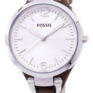 Fósiles Georgia Silver Dial ES3060 reloj de mujeres