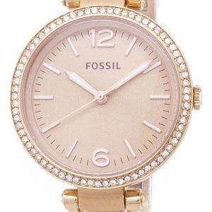 Fósiles Georgia Glitz brazalete cristal ES3226 reloj de mujeres