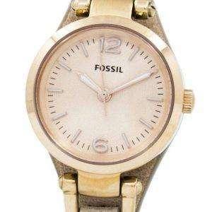 Fósiles Mini Georgia Rose Dial cuero Arena correa ES3262 reloj de mujeres
