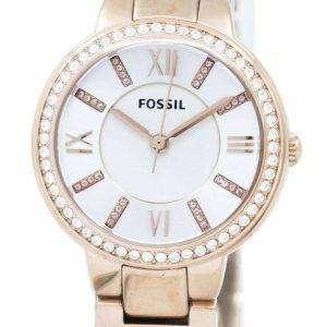 Fósiles Virginia tres mano cristal oro tono ES3284 reloj de mujeres