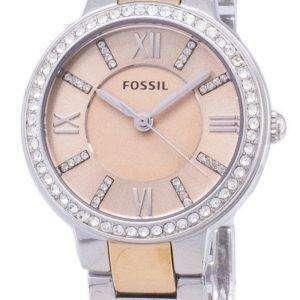 Fósiles Virginia rosa esfera cristal bicolor ES3405 reloj de mujeres