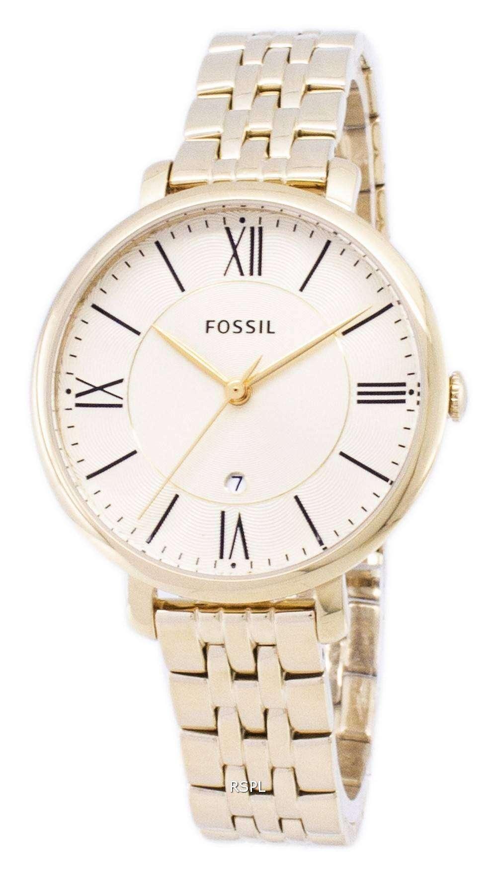 9025b7568ff5 Fósiles Jacqueline Champagne Dial acero dorado ES3434 reloj de mujeres