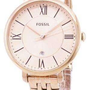 Fósiles Jacqueline rosa dorado analógico ES3435 reloj de mujeres