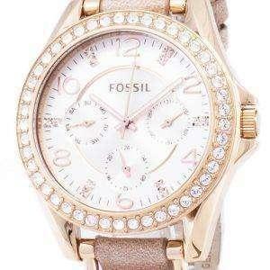 Cristales multifunción Riley fósil ES3466 reloj de mujeres