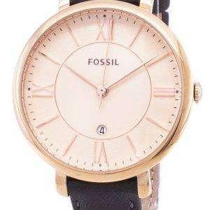 71246ff1a0e9 Fósiles Jacqueline Quartz piel gris ES3707 reloj de mujeres