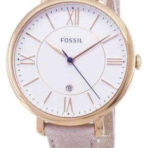 Fossil reloj Quartz Jacqueline Blush cuero correa ES3988 de las mujeres