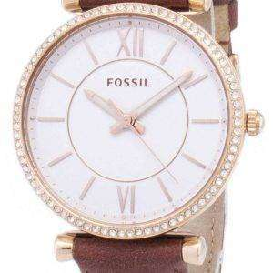 Carlie fósil ES4428 diamante cuarzo analógico Watch de Women