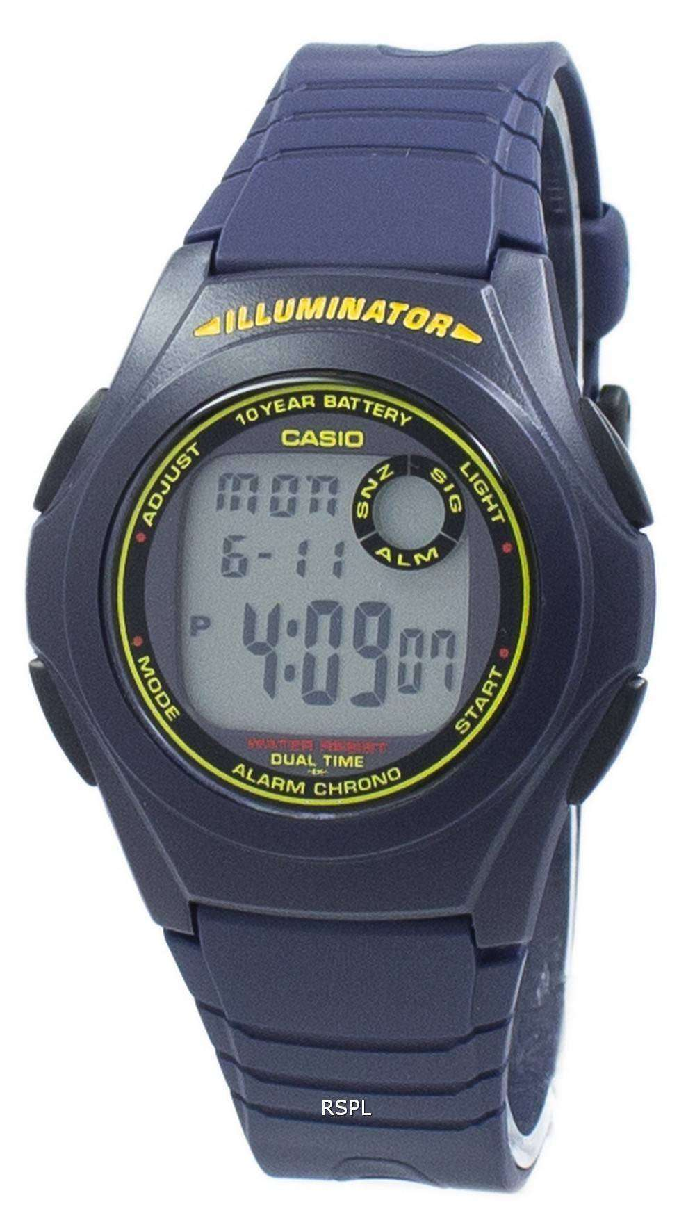 f046721137f1 Reloj Casio iluminador Dual Time crono Digital F200W F-200W-2B-2B de ...