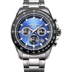 Aries de oro inspiran Drifter Cronógrafo cuarzo G 7001 SBK-BU Watch de Men