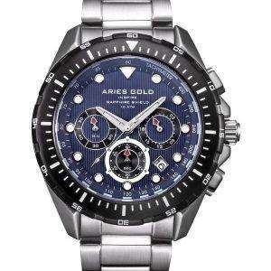 Aries de oro inspiran Atlántico Cronógrafo cuarzo G 7002 SBK-BU Watch de Men