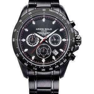 Aries de oro inspiran Drifter Cronógrafo cuarzo G 7001 BK-BK Watch de Men