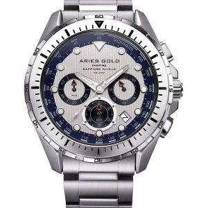 Aries de oro inspiran Atlántico Cronógrafo cuarzo G 7002 S S Watch de Men