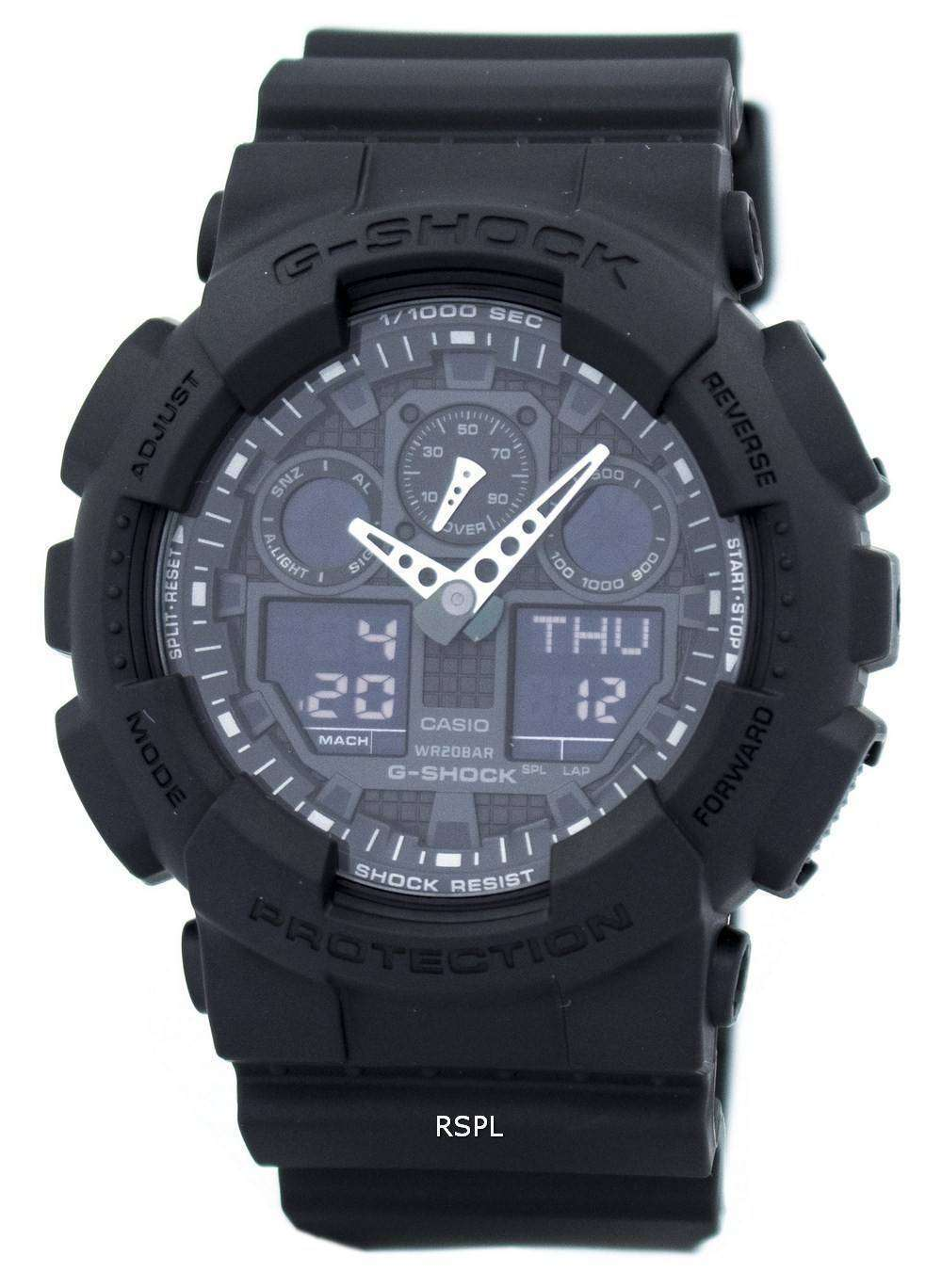 2a115416dc5b Casio G-Shock militar mate negro GA-100-1A1 hombres reloj ...