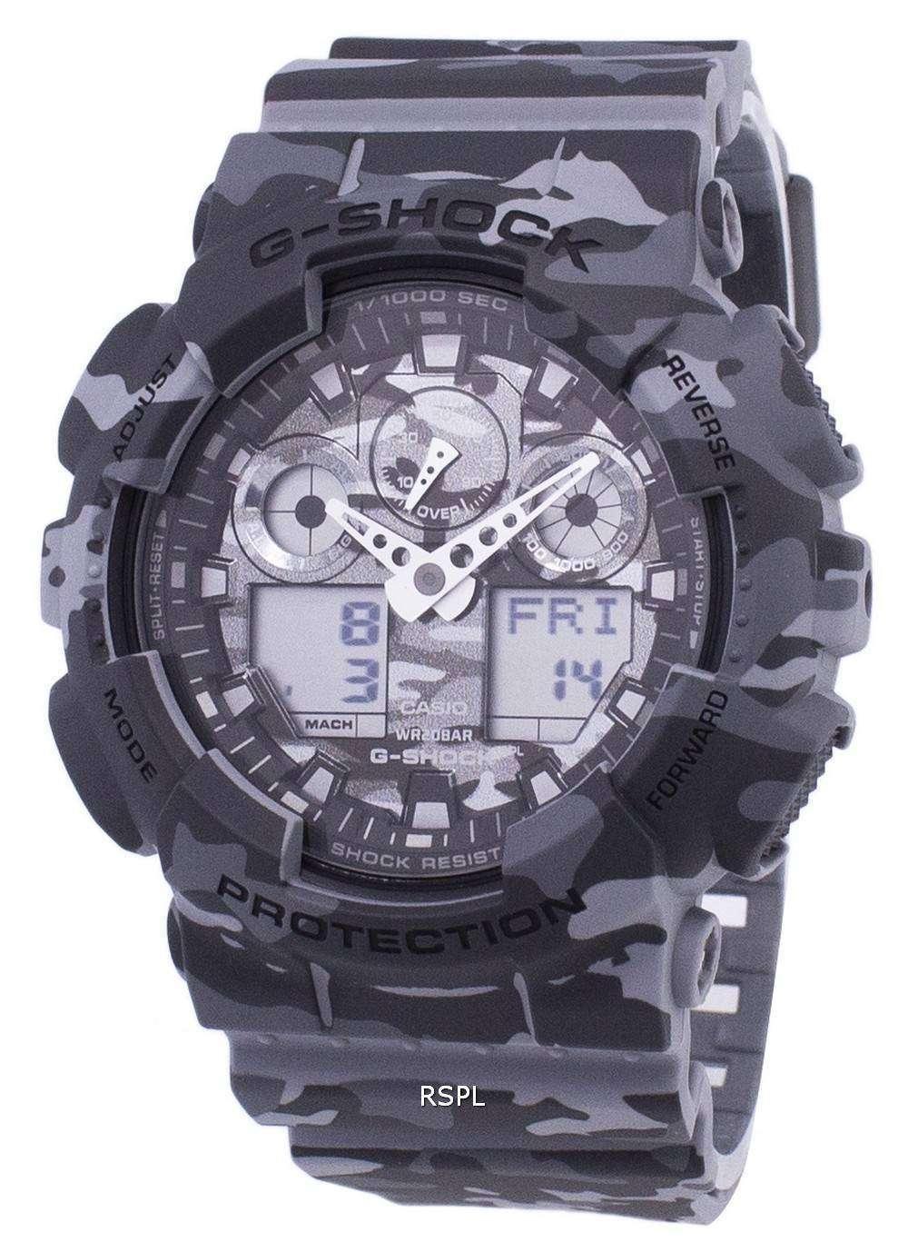 6b1456b9a4ea Reloj Casio G-Shock camuflaje serie analógica Digital GA-100CM-8A de ...
