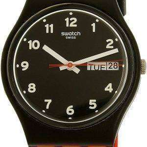 Reloj Unisex Swatch Originals rojo Grin cuarzo GB754