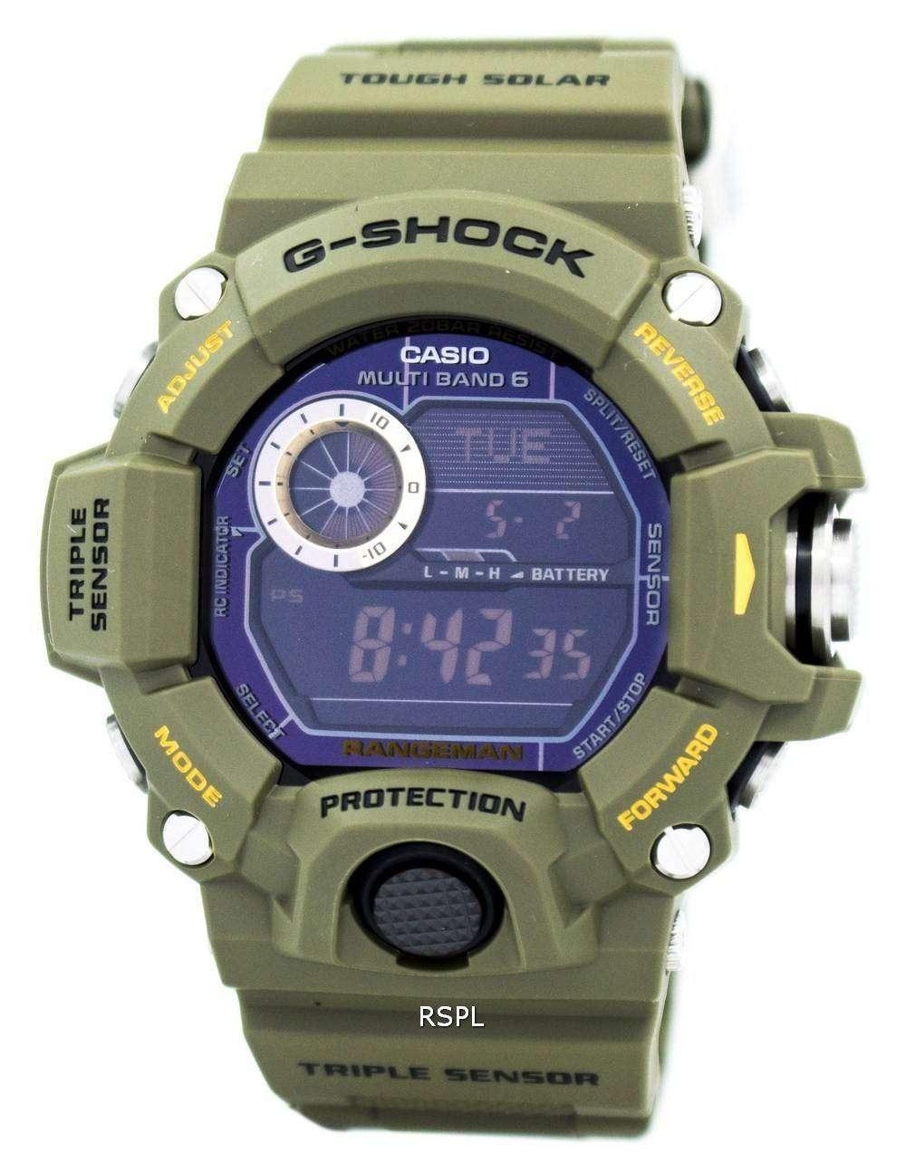 d5297c9bd4a3 Reloj Casio G-Shock Rangeman multi banda atómica GW-9400-3 de los ...