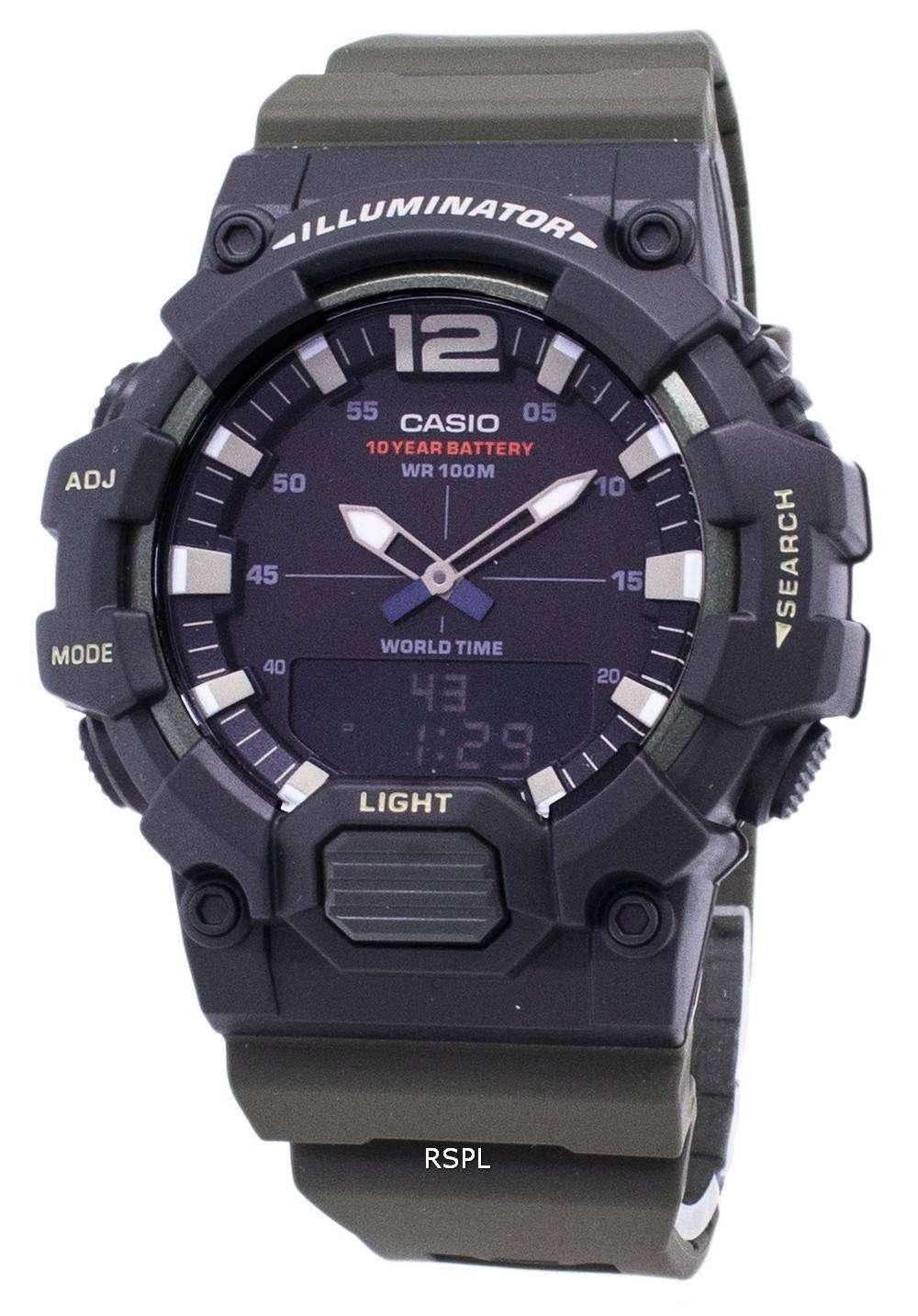 zapatos deportivos fa375 a4bee Reloj juvenil Casio HDC-700-3AV iluminador cuarzo analógico Digital de los  hombres