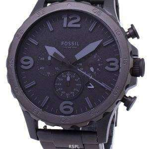 77f0d3d24d74 F√≥siles reloj Nate Chronograph Dial negro negro Ion-plateada JR1401 hombres  · +. Fossil