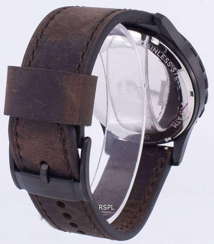 455055c75bb4 Fossil Nate Chronograph cuero marrón JR1487 reloj de hombres ...