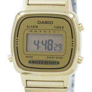 Reloj Casio Digital acero inoxidable alarma temporizador LA670WGA-9DF LA670WGA-9 de las mujeres