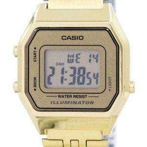 Reloj Casio Digital cuarzo acero inoxidable iluminador LA680WGA-9DF 9 LA680WGA de las mujeres
