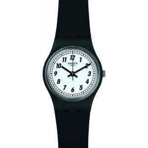 Originales Swatch algo negro analógico cuarzo LB184 Watch de Women