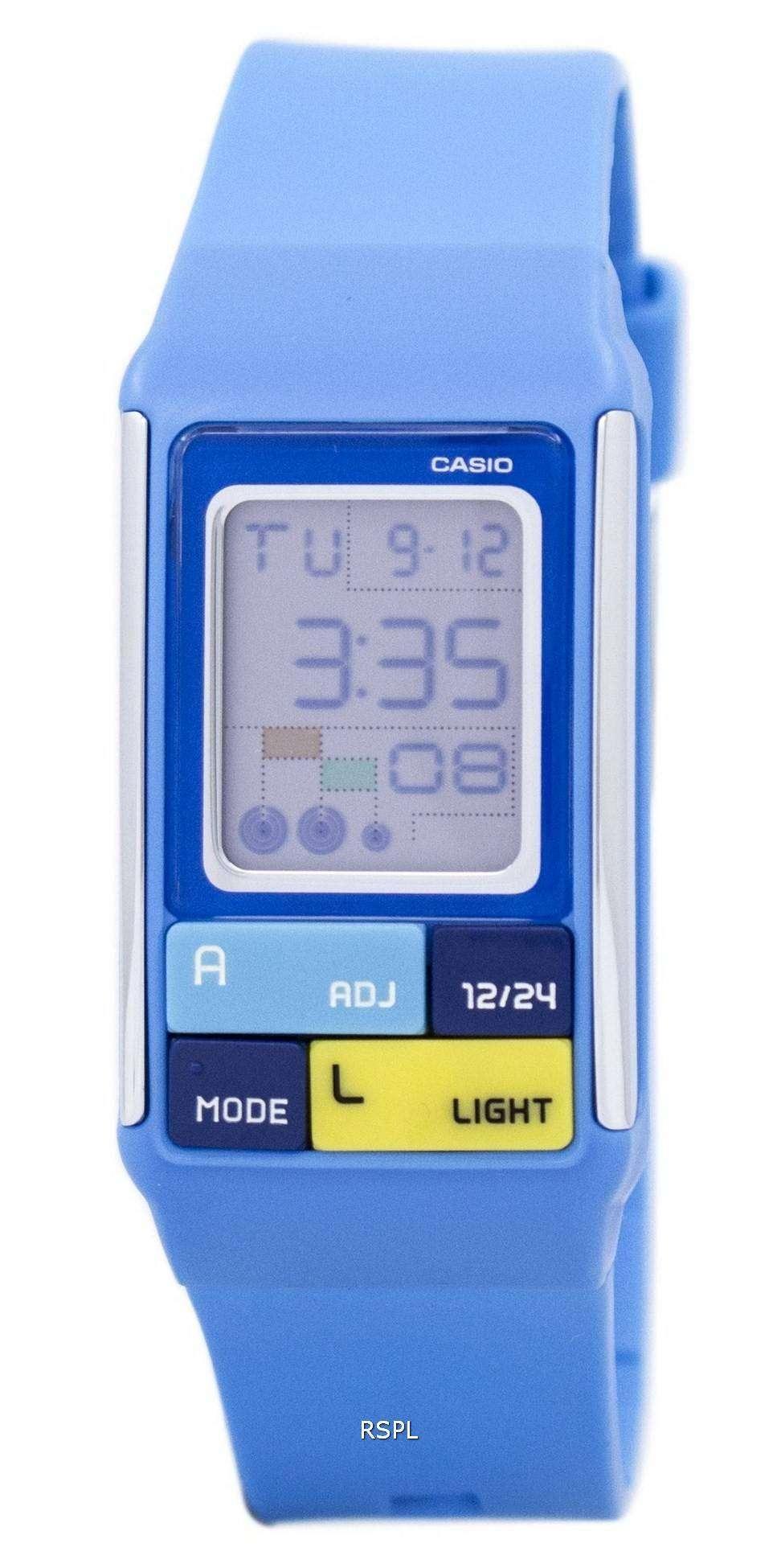 b2a044fe1e2c Reloj Casio Poptone hora Dual alarma Digital LDF-50-2D LDF50-2D de ...