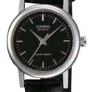Reloj Casio cuarzo analógico Dial negro LTP-1095E-1ADF LTP-1095E-1A Femenil