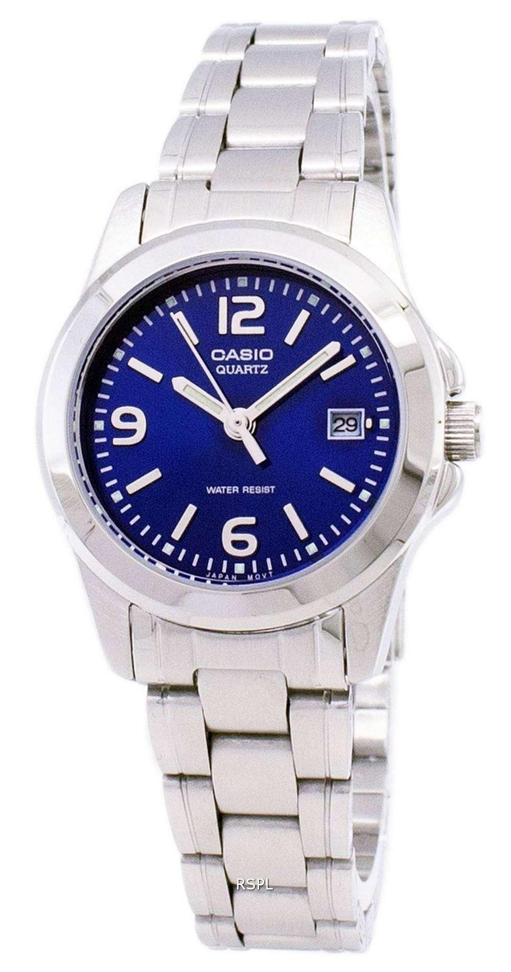 b0509c86b724 Reloj Casio analógico cuarzo Dial Azul LTP-1215A-2ADF LTP-1215A-2A ...